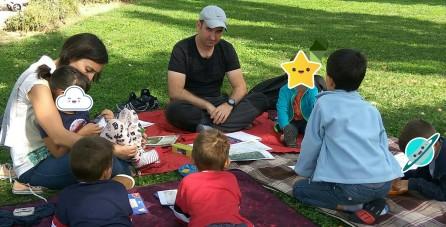 david y lisa niños parque